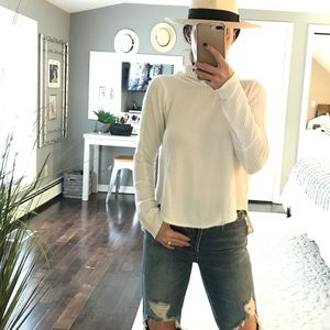 We The Free People white slouch neck shirt small